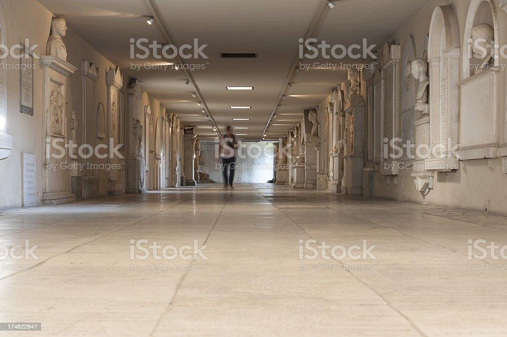 basement of santa croce basilica florence stock photo
