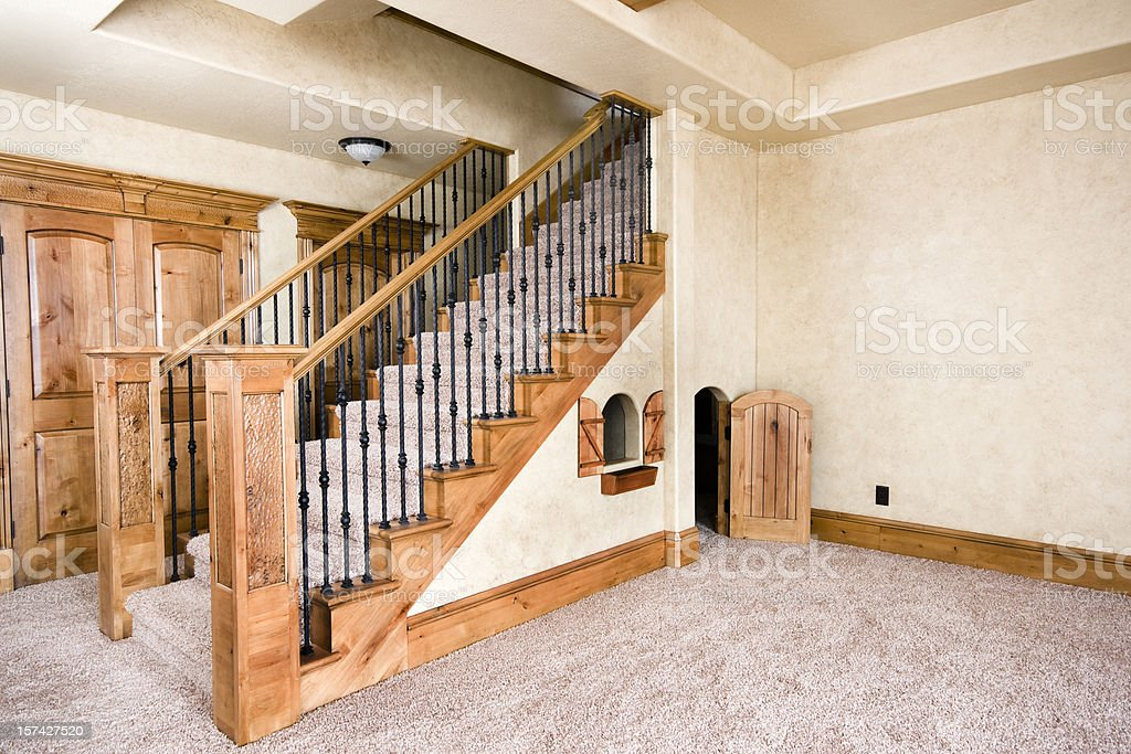Basement Stairs royalty-free stock photo