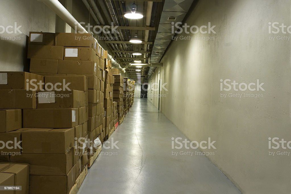 Basement storage royalty-free stock photo