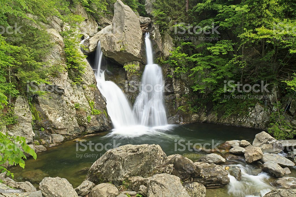 Bash Bish Falls and Green Pool stock photo