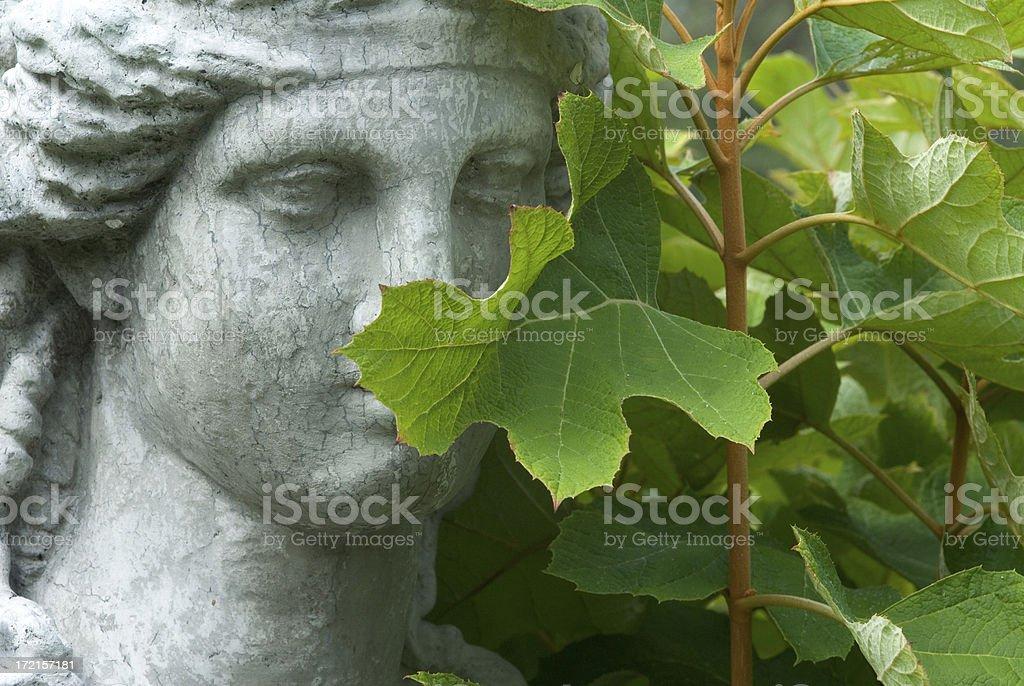 Bashful Statue stock photo