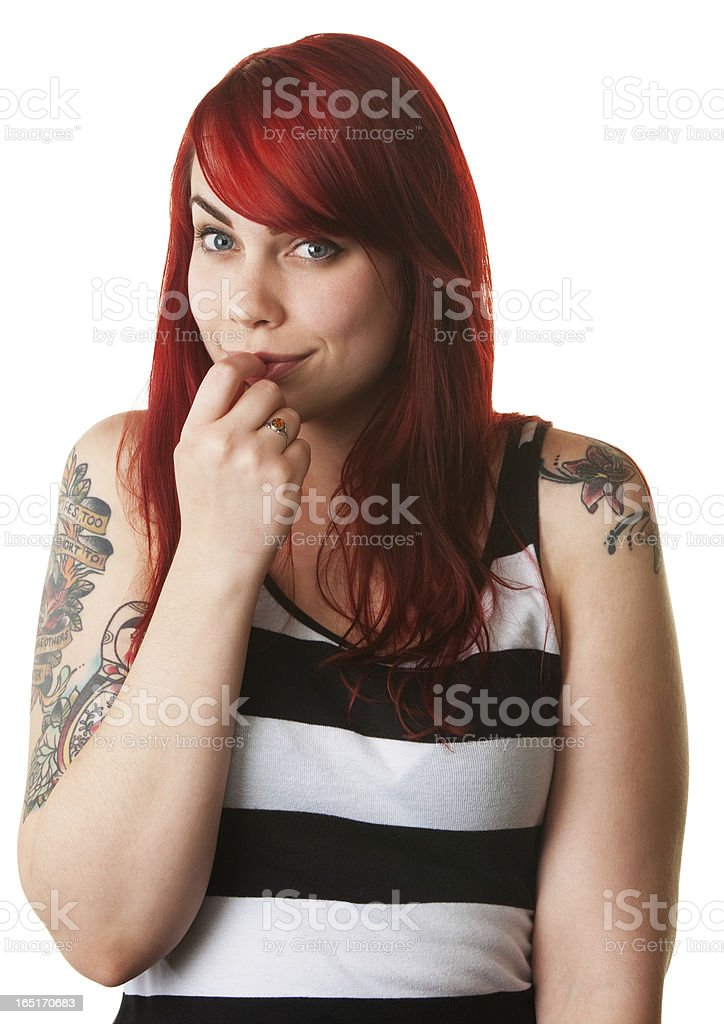 Bashful Young Woman royalty-free stock photo