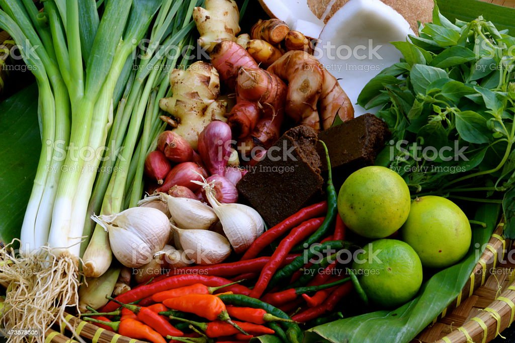 Basic Asian Kitchen Spice stock photo