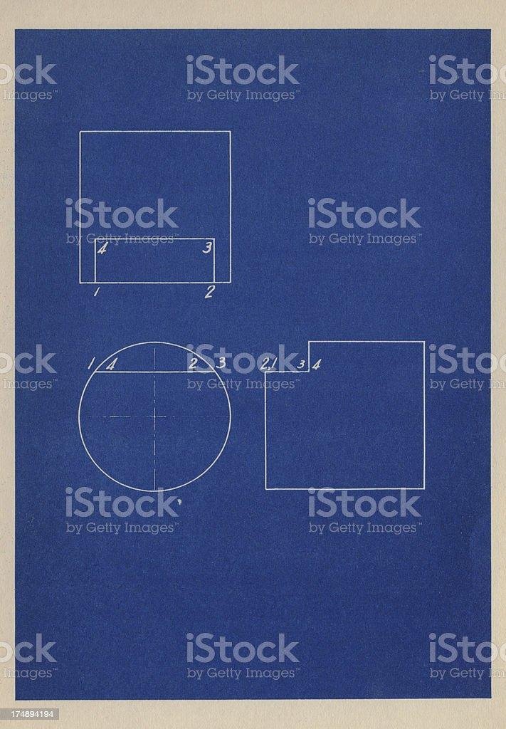 basic blueprint royalty-free stock photo