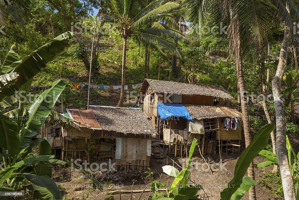 Basic house, Sabang, Philippines royalty-free stock photo
