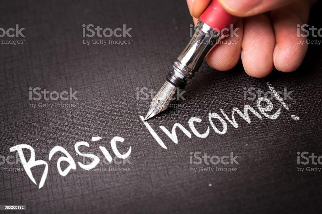 Basic Income stock photo