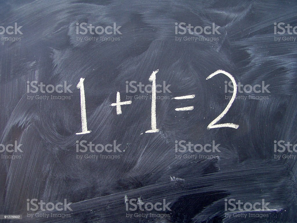 Basic maths on blackboard royalty-free stock photo