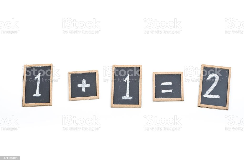 Basic maths royalty-free stock photo