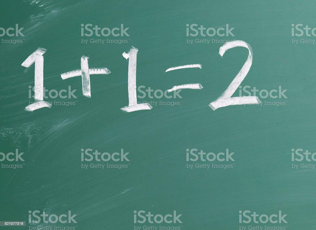 Basic maths stock photo