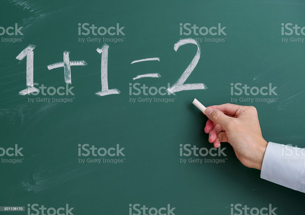 Basic maths stock photo