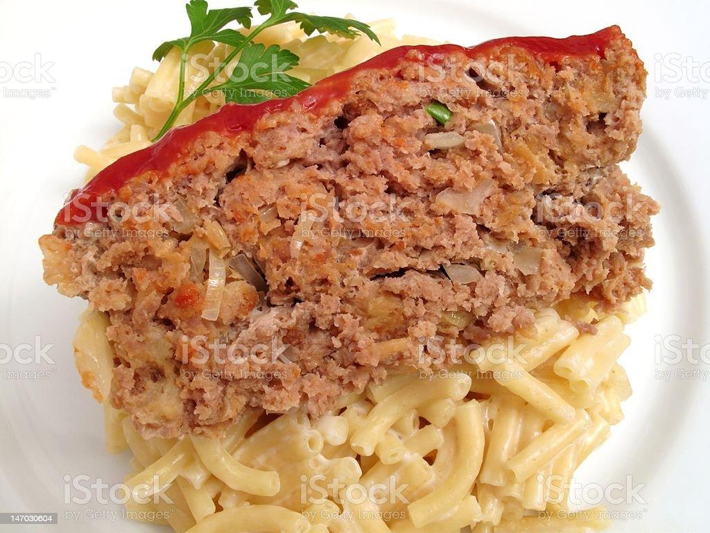 Basic Meatloaf Dinner stock photo