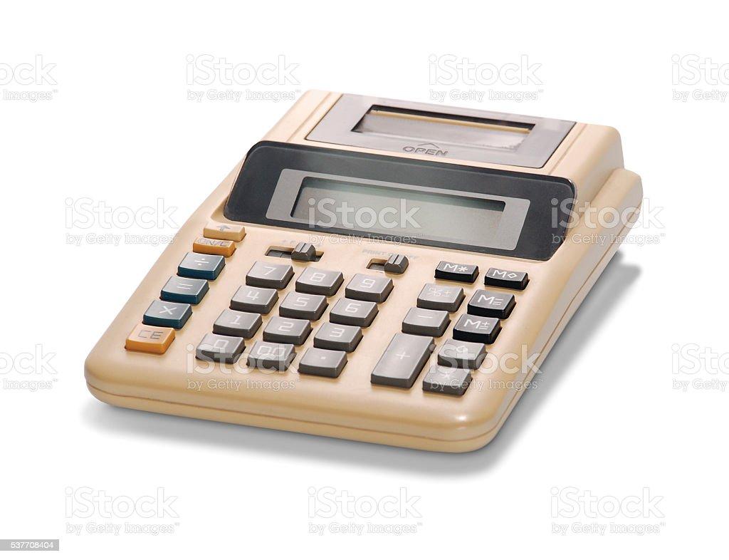 Basic Old School Calculator stock photo