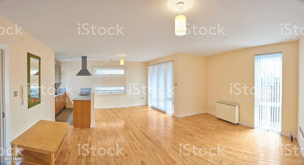 basic open plan apartment stock photo