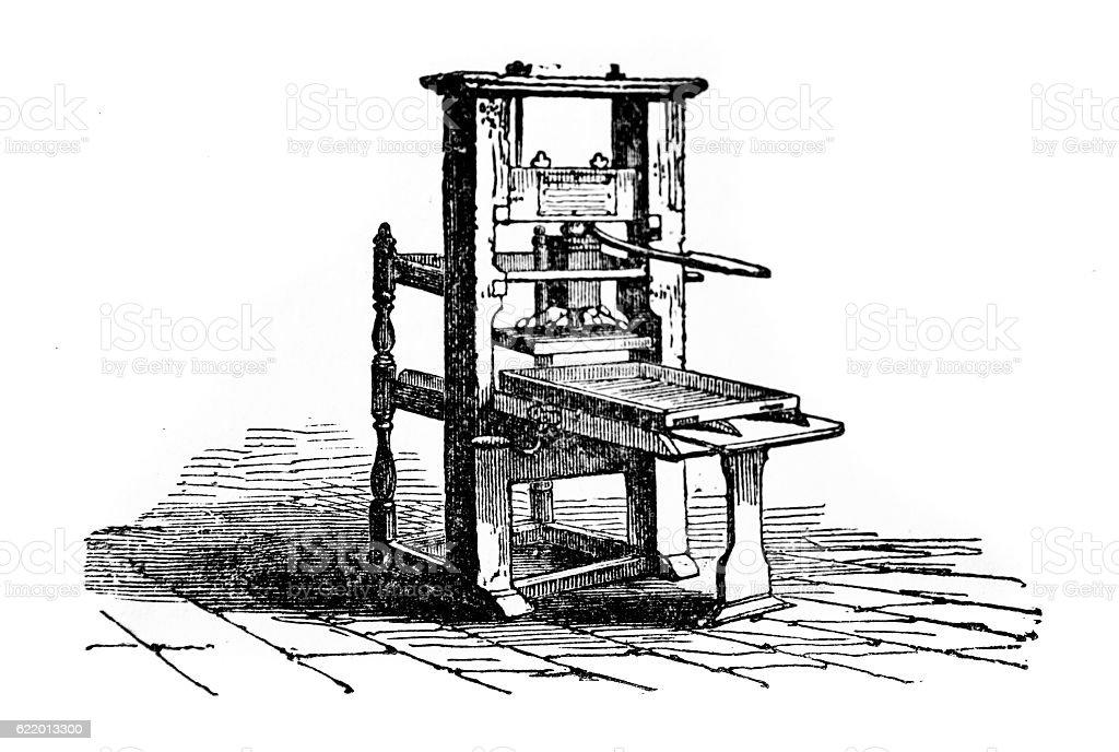 Basic Printing Press stock photo