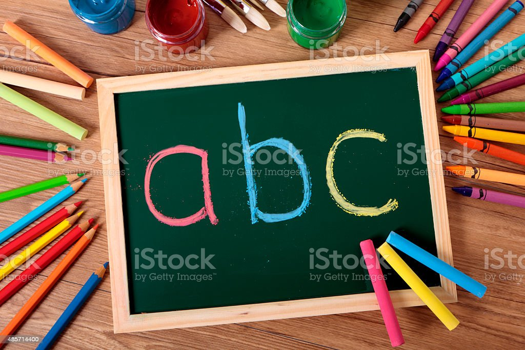 ABC basic reading and writing stock photo