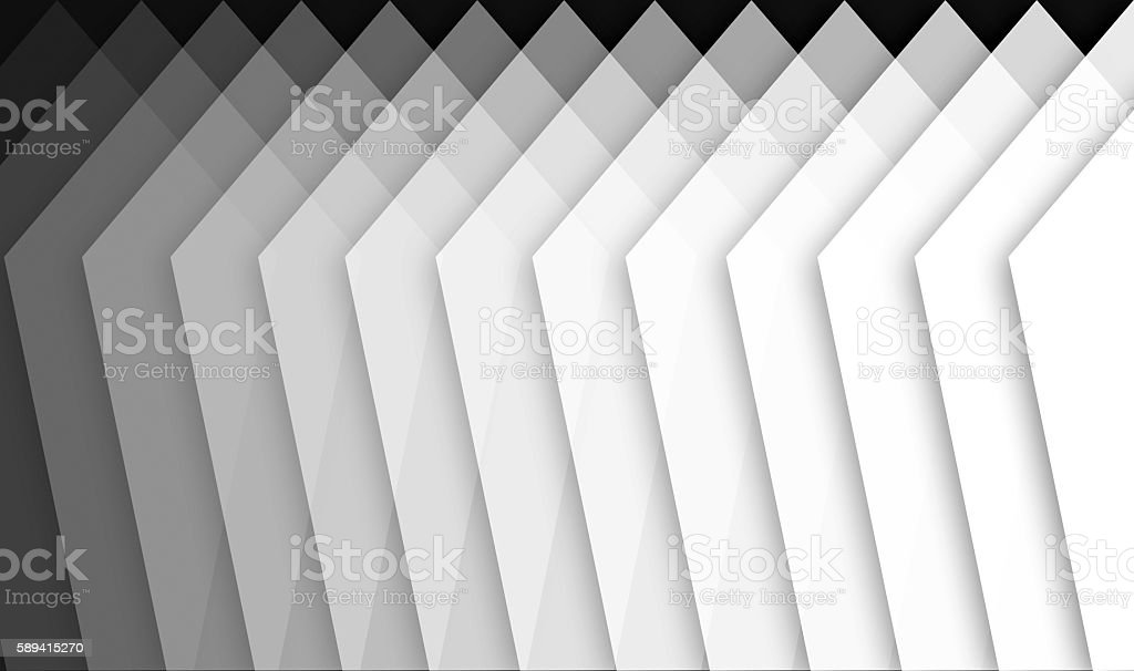 basic shapes showing abstact gradiant from black to white stock photo