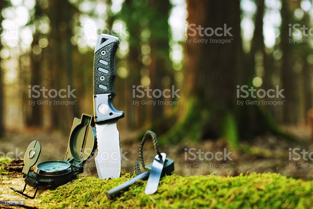 basic survival tools stock photo