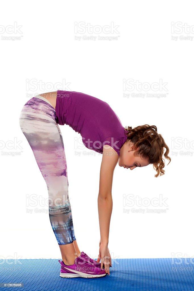 basic yoga stock photo