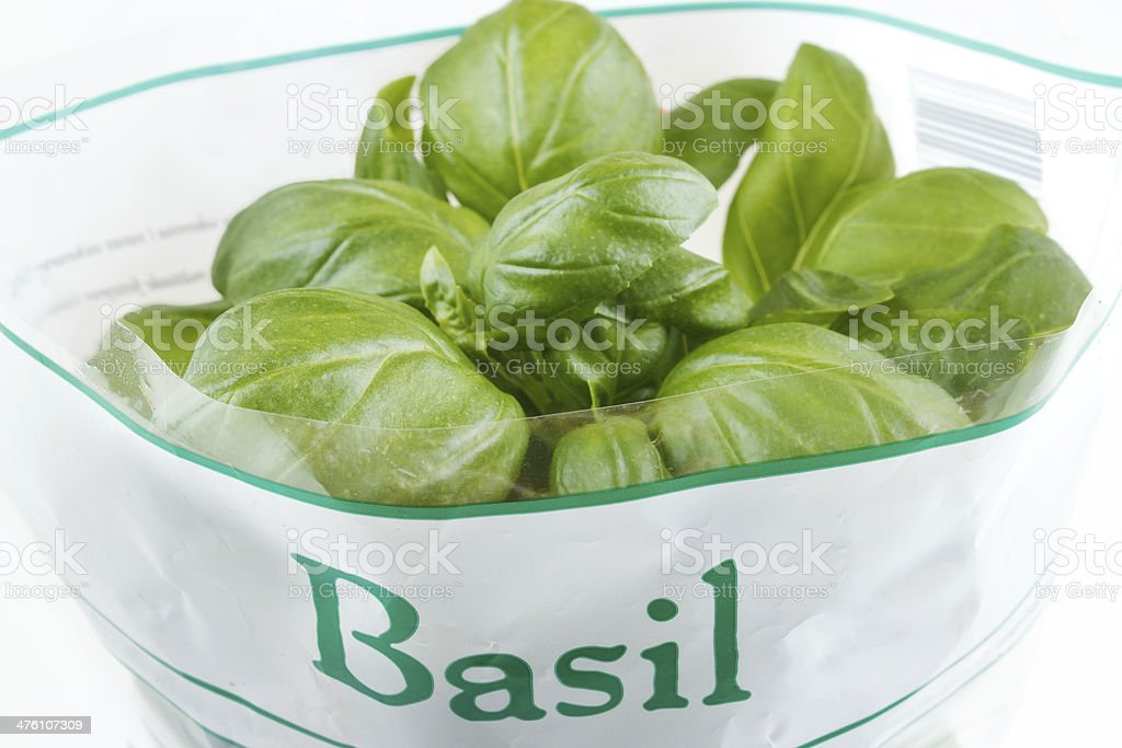 Basil from market royalty-free stock photo