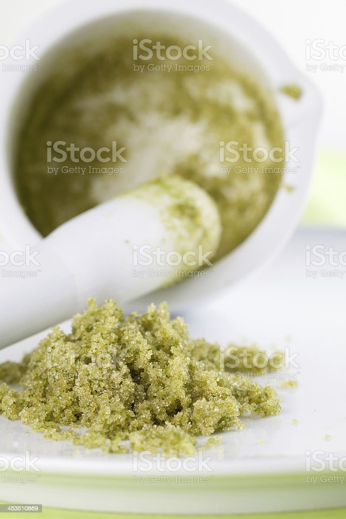 Basil sugar royalty-free stock photo