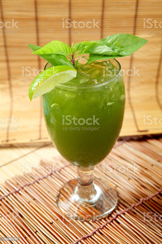 Basil Tea royalty-free stock photo