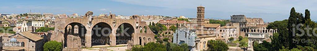 Basilica and Coliseum, Rome stock photo