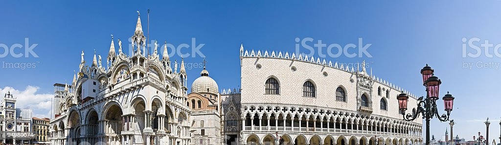 Basilica and Doge's Palace Venice royalty-free stock photo