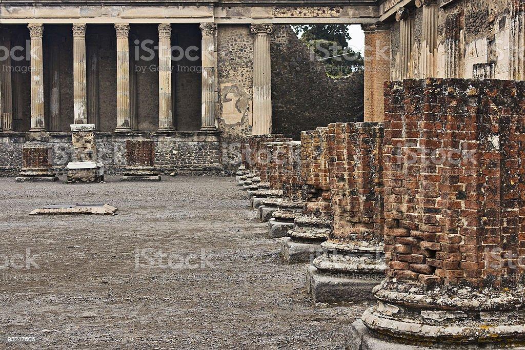 Basilica and Tribunal, Pompeii, Italy stock photo