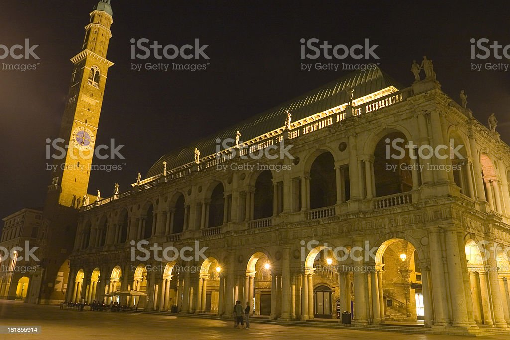 Basilica by Night stock photo