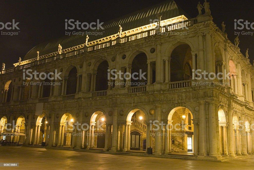 Basilica by Night stock photo