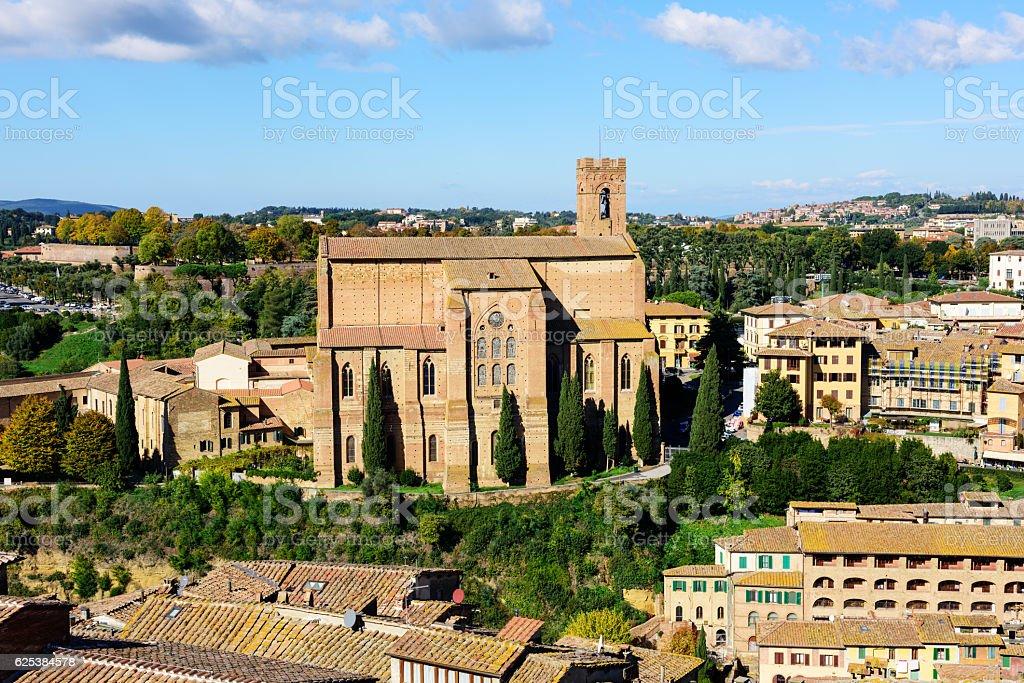 Basilica Cateriniana in Siena, Italy stock photo