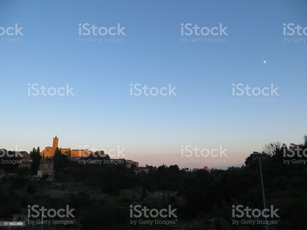 Basilica Cateriniana San Domenico, Siena, Tuscany. Italy stock photo