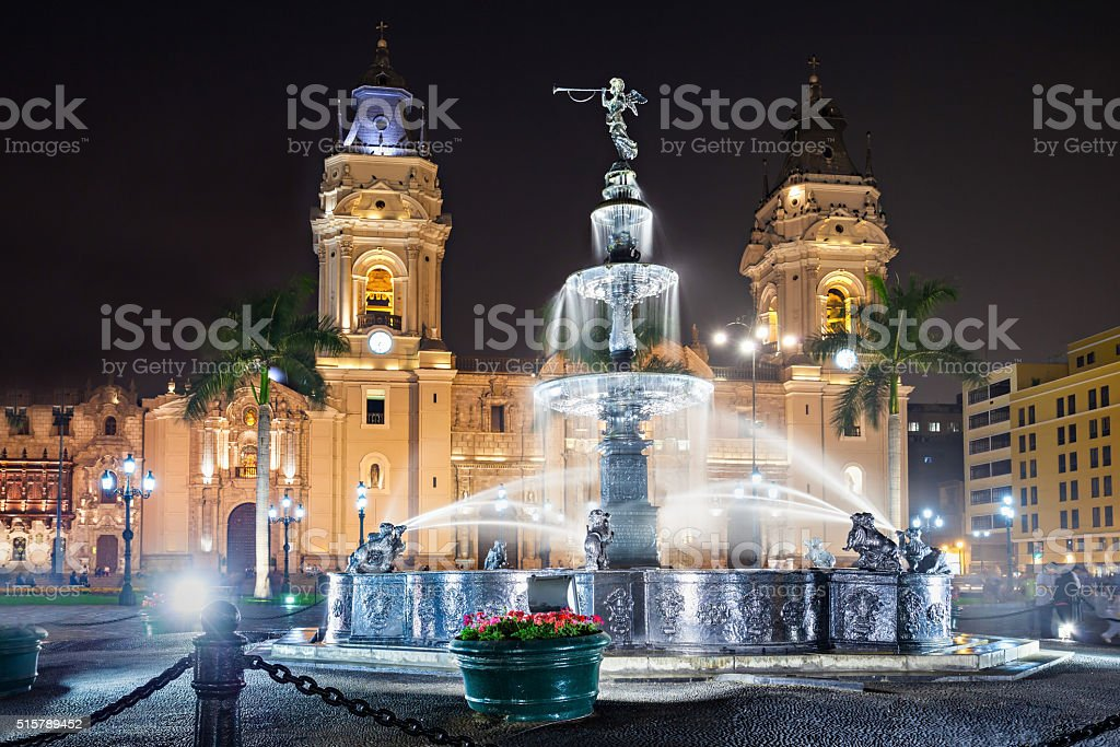 Basilica Cathedral, Lima stock photo