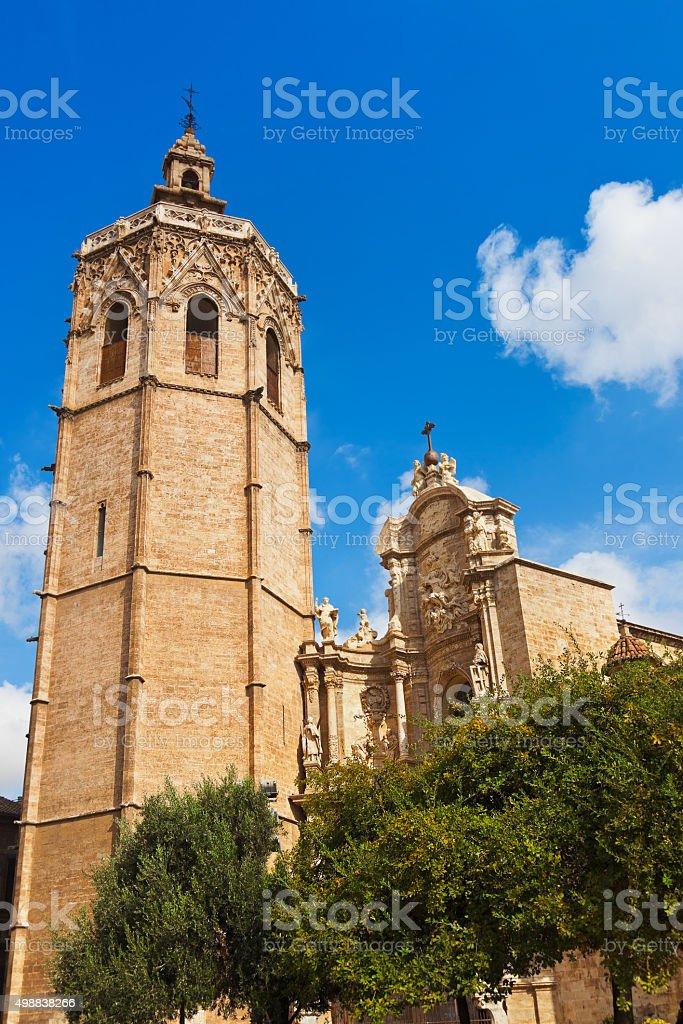 Basilica Cathedral - Valencia Spain stock photo