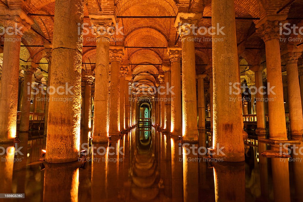 Basilica Cistern In Istanbul, Turkey stock photo