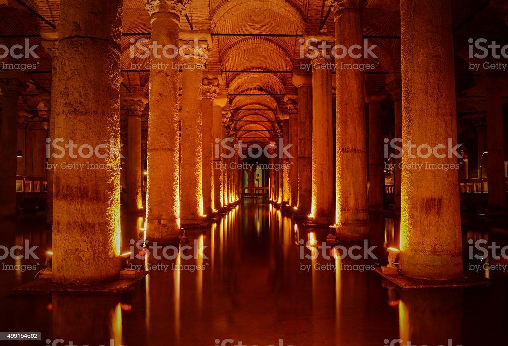 Basilica Cistern (Yerebatan Sarnici) in Istanbul, Turkey stock photo