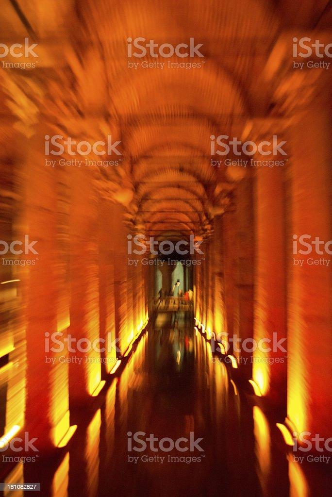 Basilica Cistern, Istanbul stock photo