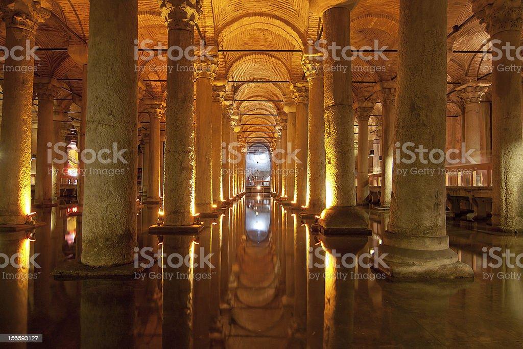 Basilica Cistern, Istanbul, Turkey stock photo