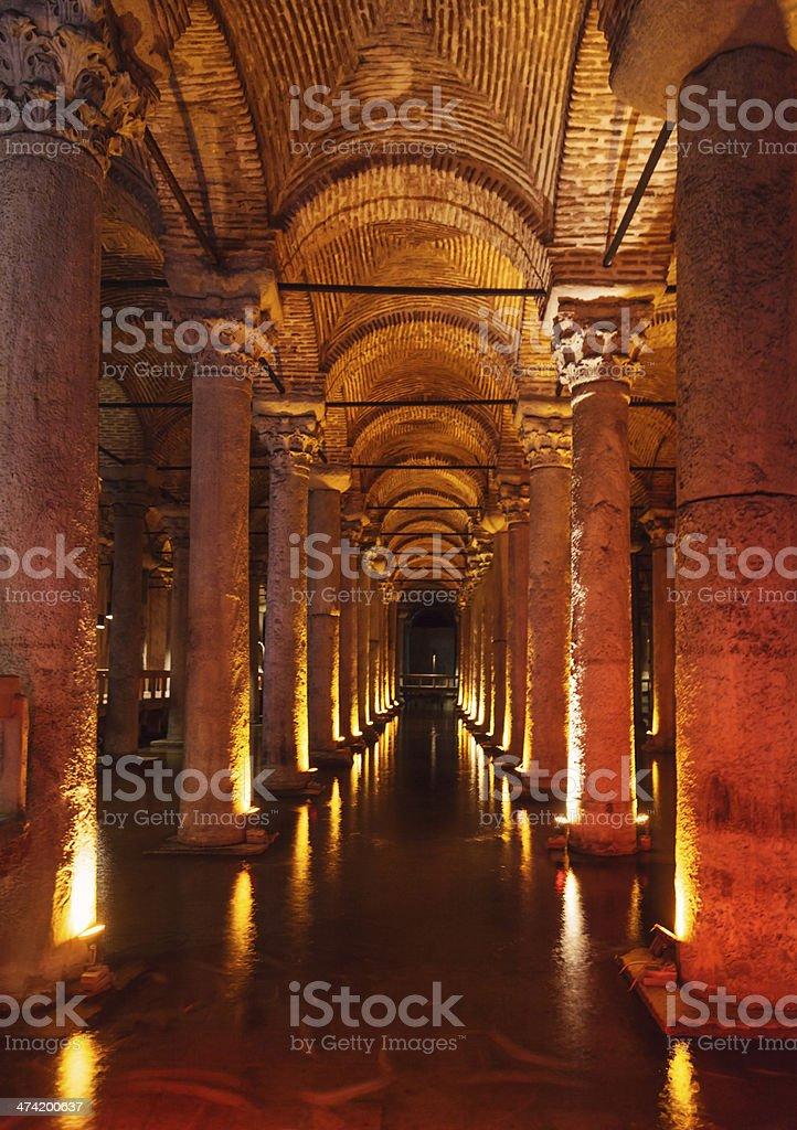 Basilica Cistern stock photo