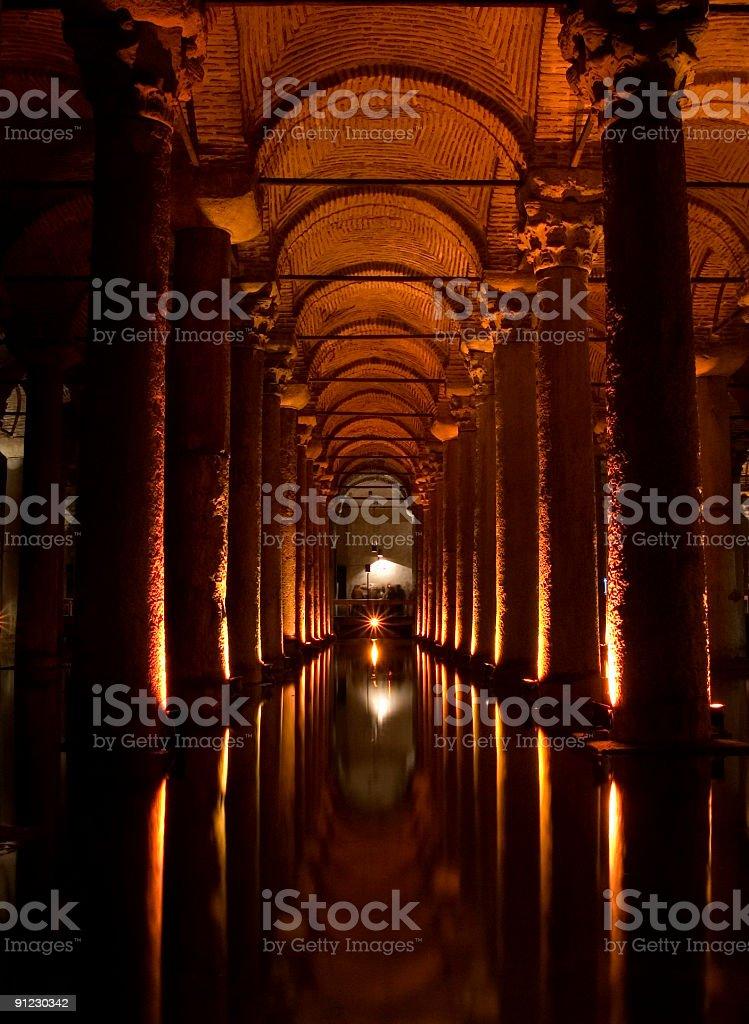 Basilica Cistern royalty-free stock photo