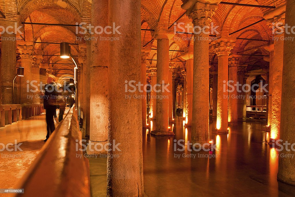 Basilica Cistern, Turkey stock photo