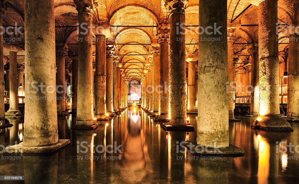 Basilica Cistern - Yerebatan Sarnici - Istanbul stock photo