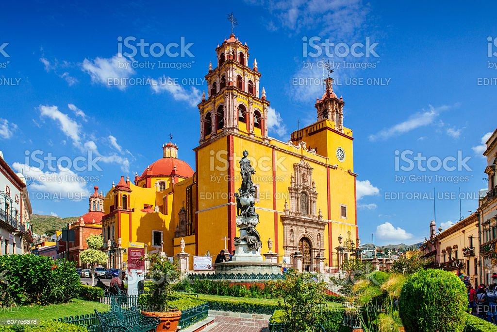 Basilica de Nuestra Señora de Guanajuato Mexico stock photo