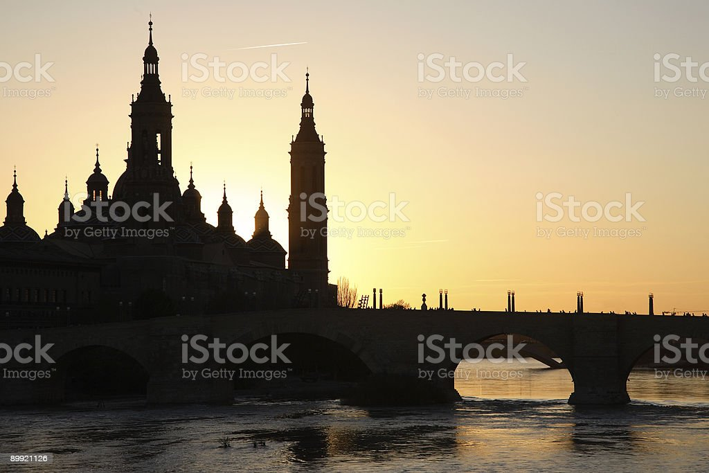 Basilica de Pilar, Zaragoza, Spain royalty-free stock photo