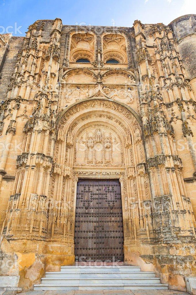Basilica de Santa Maria de la Asuncion stock photo