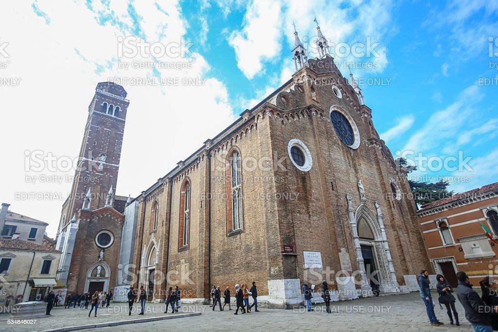 Basilica dei Frari stock photo