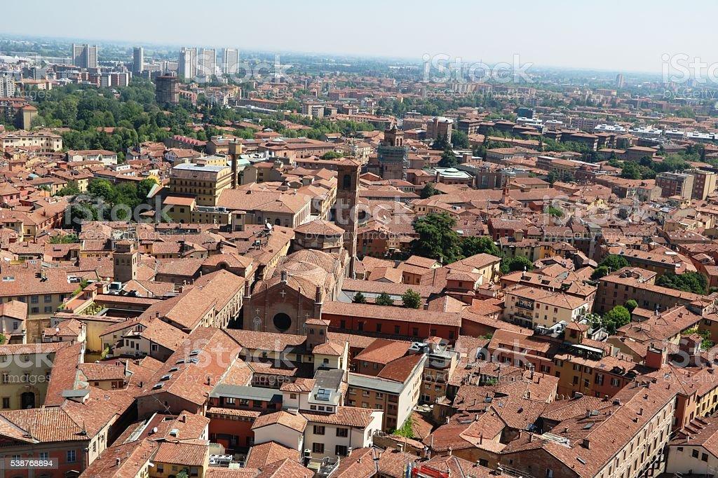 Basilica di San Giacomo Maggiore in Bologna, Italy stock photo