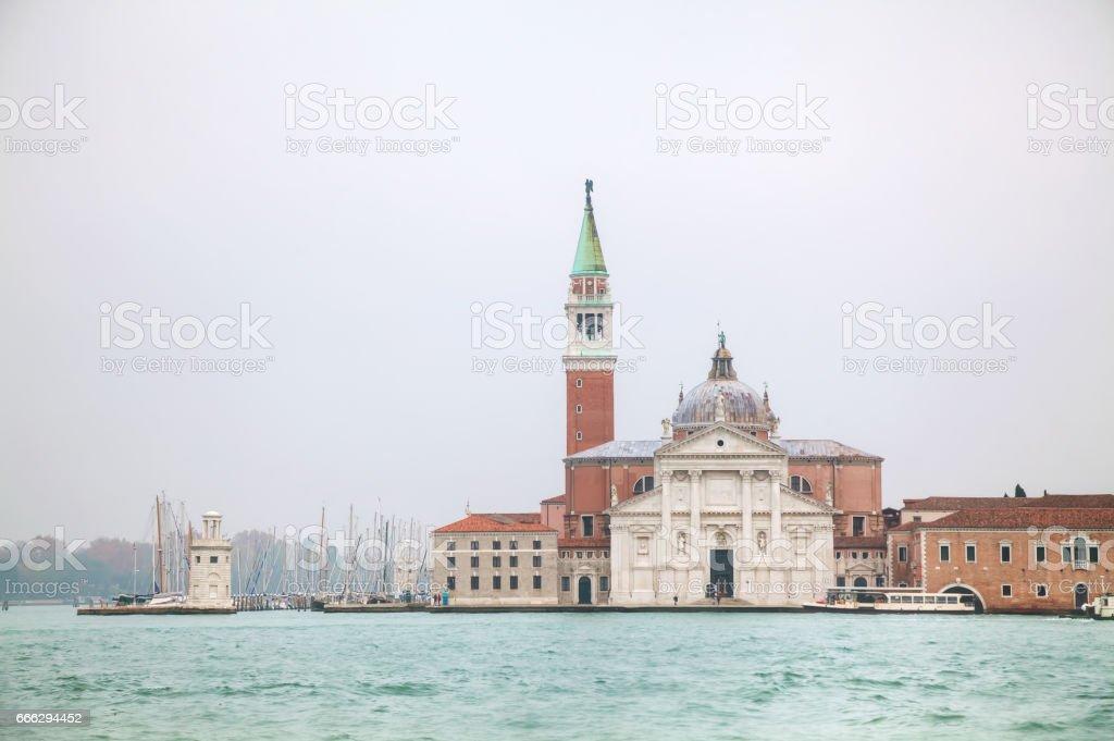 Basilica Di San Giogio Maggiore in Venice stock photo