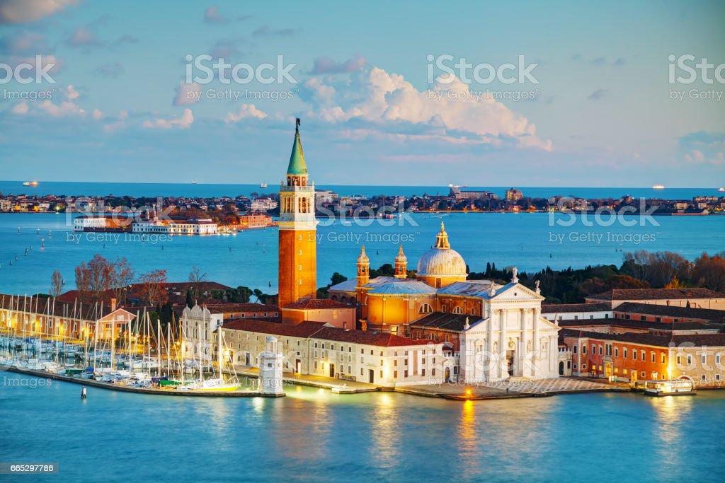 Basilica Di San Giorgio Maggiore in Venice stock photo