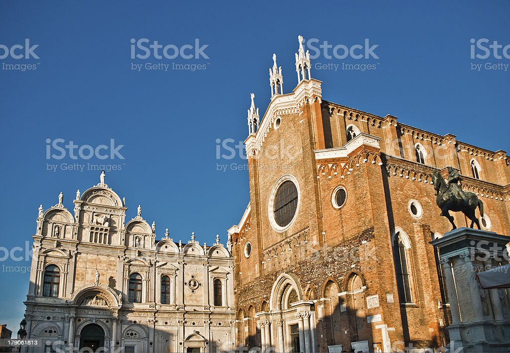 Basilica di San Giovani e Paolo in Venice, Italy stock photo
